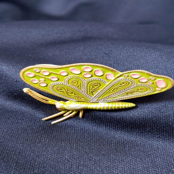 Enameled Butterfly Brooch Spain
