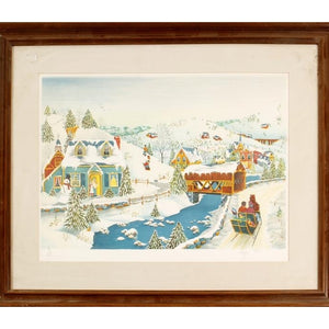 Home for the Holidays Lithograph