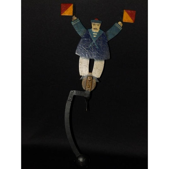 Folk Art Style Counter Balance Sailor Sculpture