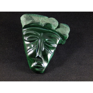 African Art-Malachite Tribal Mask
