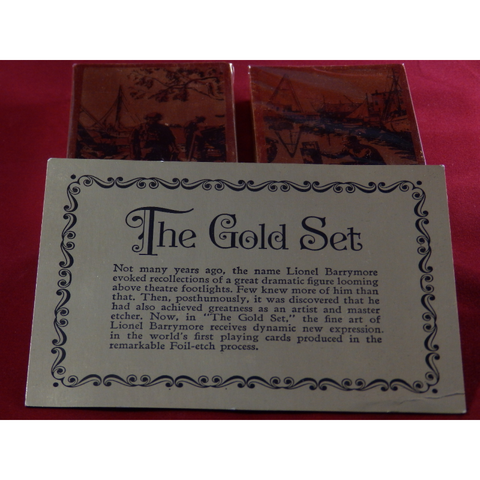 Lionel Barrymore Etched The Gold Foil Set