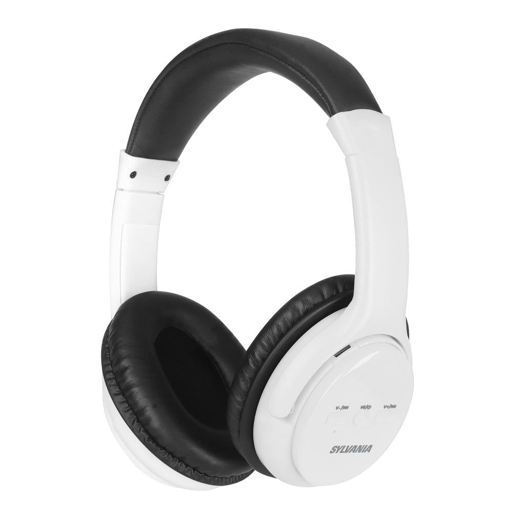ca906b1f8e2 Sylvania SBT225 Over-the Head Bluetooth Headphones, White