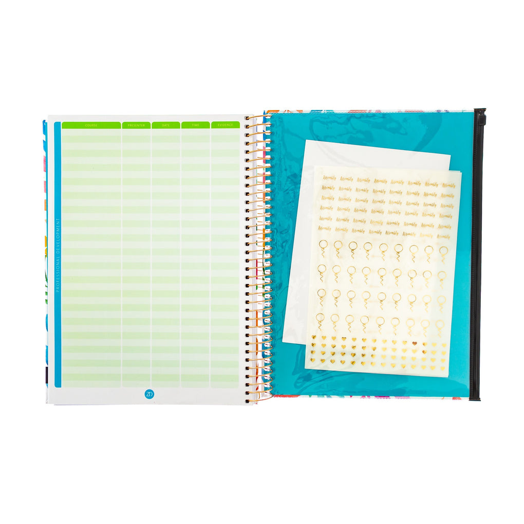 HORIZONTAL WEEKLY TEACHER PLANNER - UNDATED