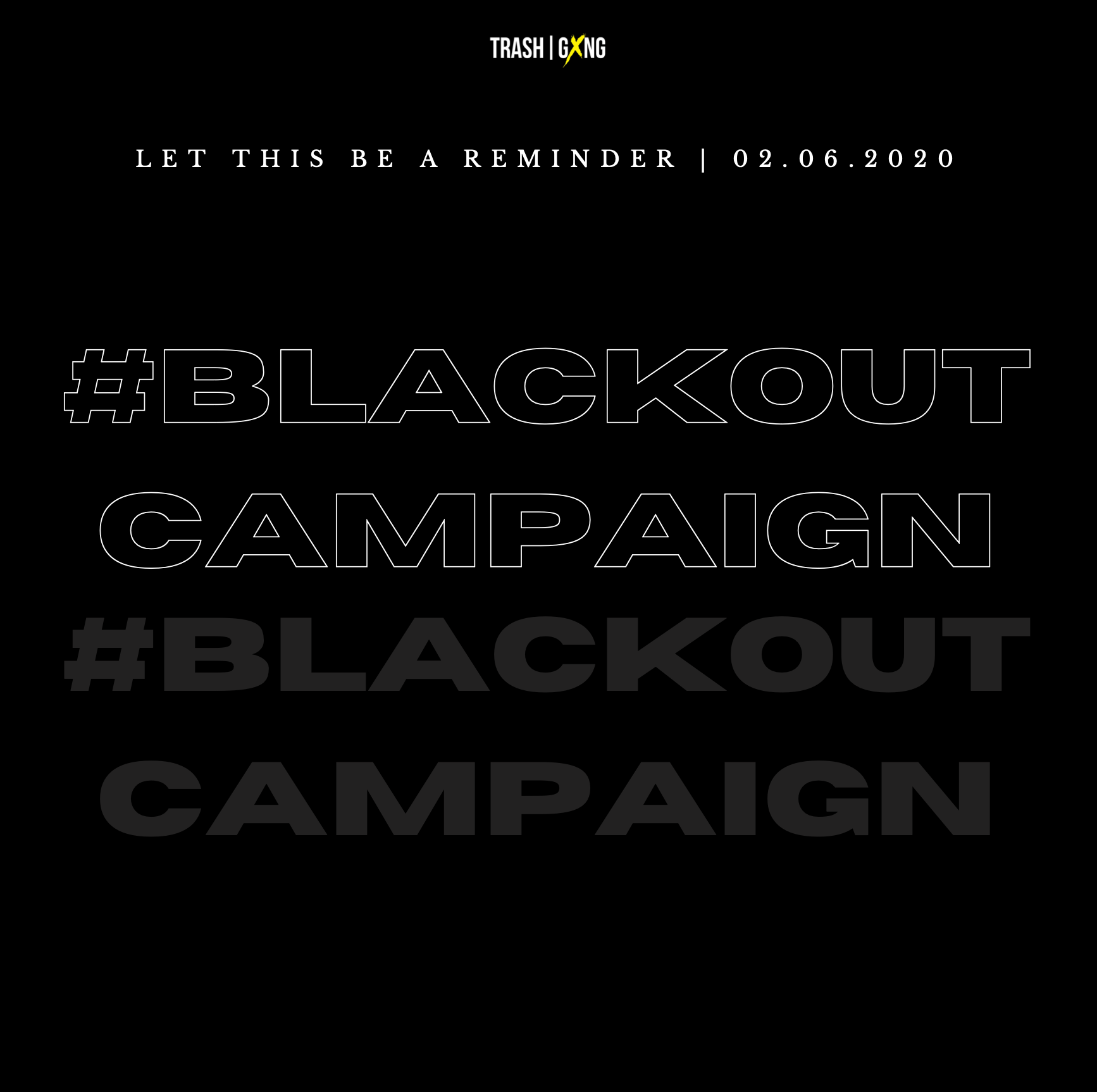 Blackout Campaign - Supporting #BLM