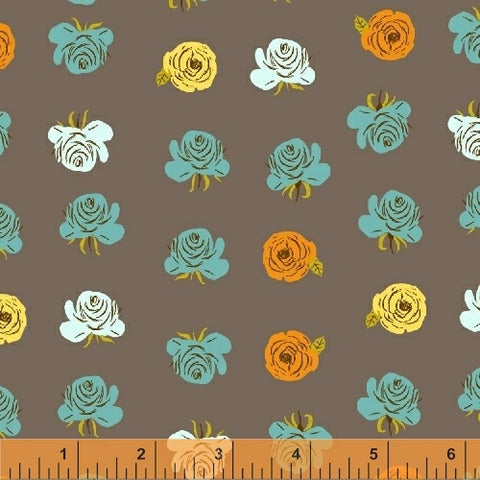 Windham Fabrics Far Far Away 2 Heather Ross Roses in Smoke 51203-7