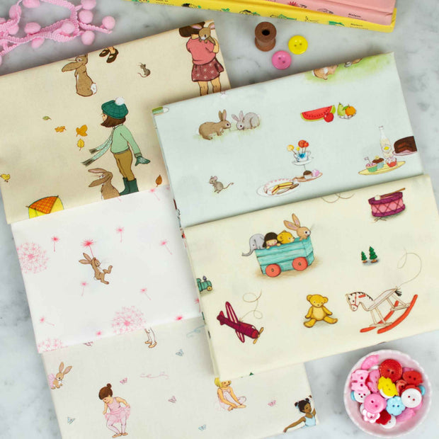 Belle and Boo - 5 Piece Fabric Bundle