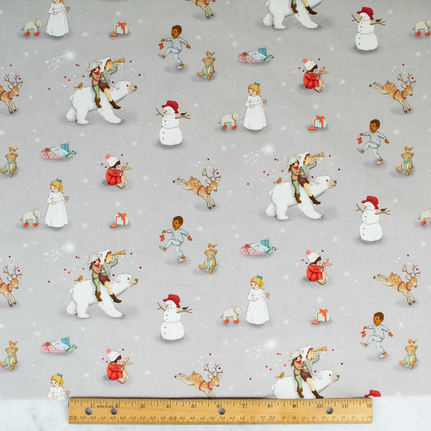 belle-and-boo-polar-bear-adventure-on-gray-extra-wide-fabric