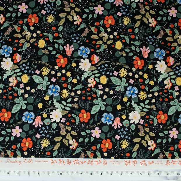 cotton-steel-rifle-paper-company-strawberry-fields-black-fabric-rp400-bk1