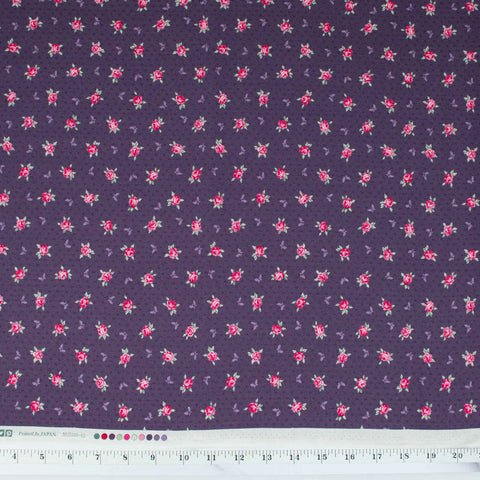 quilt-gate-english-rose-garden-small-roses-and-butterflies-on-purple-2310-15E