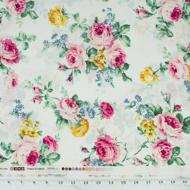quilt-gate-ruru-bouquet-sweet-rose-large-cluster-roses-white-2330-11a-qugru233011a