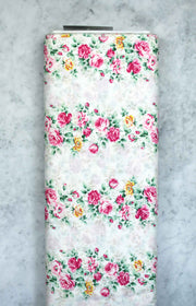 quilt-gate-ruru-sweet-rose-bouquets-border-white-2330-12a-qugru2330-12a