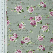 quilt-gate-sweet-rose-ruru-bouquet-pink-roses-background-text-sage-green-2330-13e-qugru2330-13e