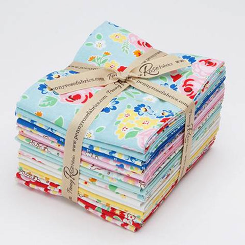 Bluebirds on Roses Fat Quarter Bundle