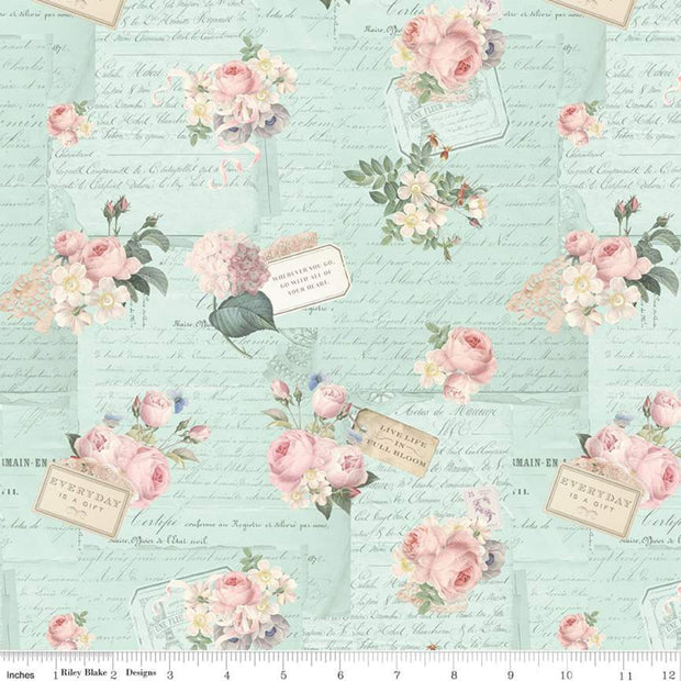 riley-blake-Miss-Rose-Sister-Violet-rose-violets-garden-party-songbird-C10411-SONGBIRD