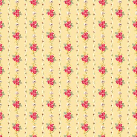 Farmhouse Floral - Stripe Yellow