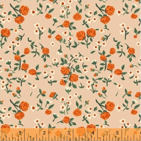 Trixie by Heather Ross - Mousies Floral on Peach
