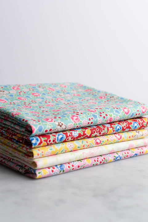 Yuwa Deer and Tiny Flowers Fabric Bundle