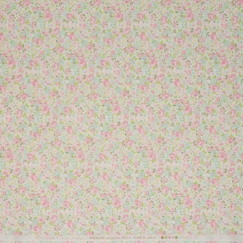 Yuwa: Flower Medley Light Pink on Off-White