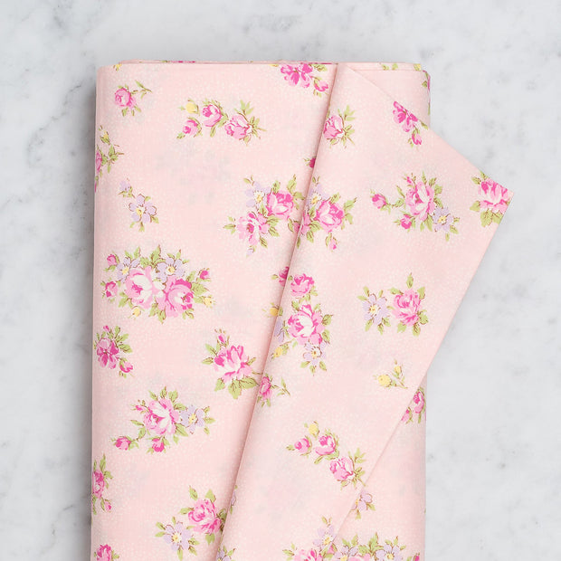 Yuwa Floral Bunch on Pink