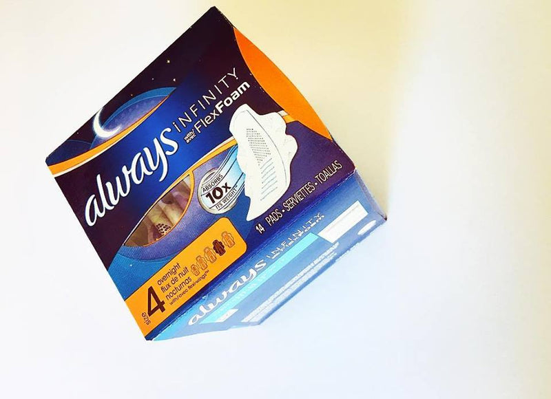 Always overnight Pads with wings (14 pack)