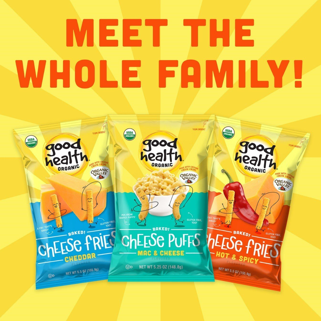 Good Health® Introduces New Organic Cheese Snacks!