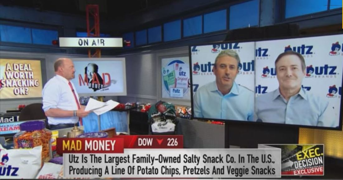 Utz was featured on Jim Cramer's Mad Money