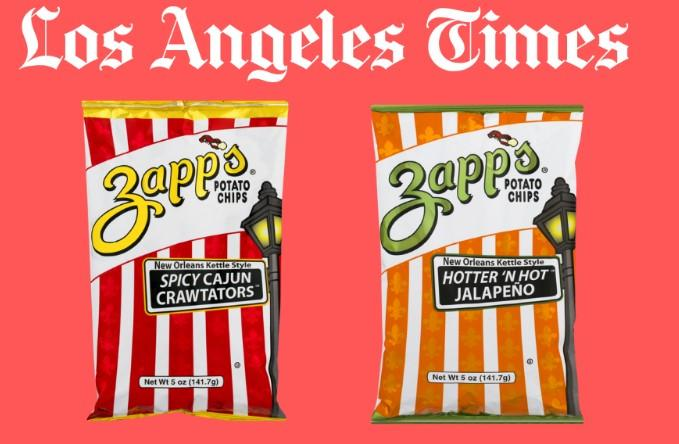 Zapp's Potato Chips ranked in the LA Times