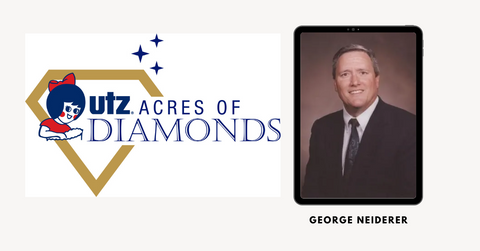 Utz Acres of Diamonds  Logo and Photo of George Neiderer - White Male