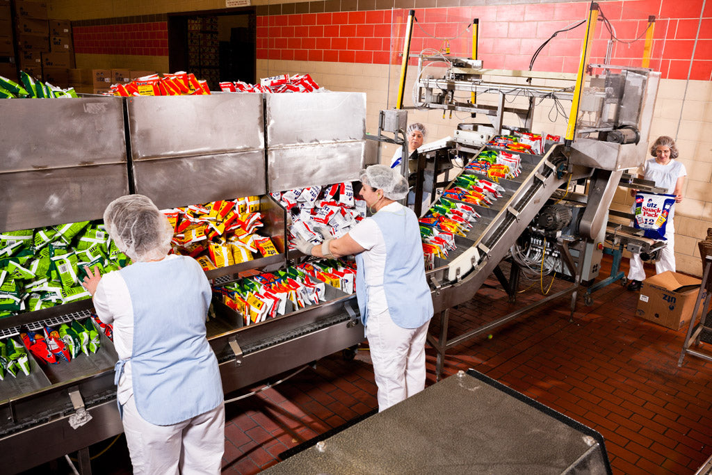 Photo of Chip Bag Assembly Line