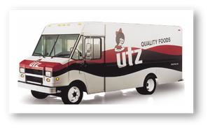 Utz Delivery truck. Utz continues to expand geographies with strong logistics