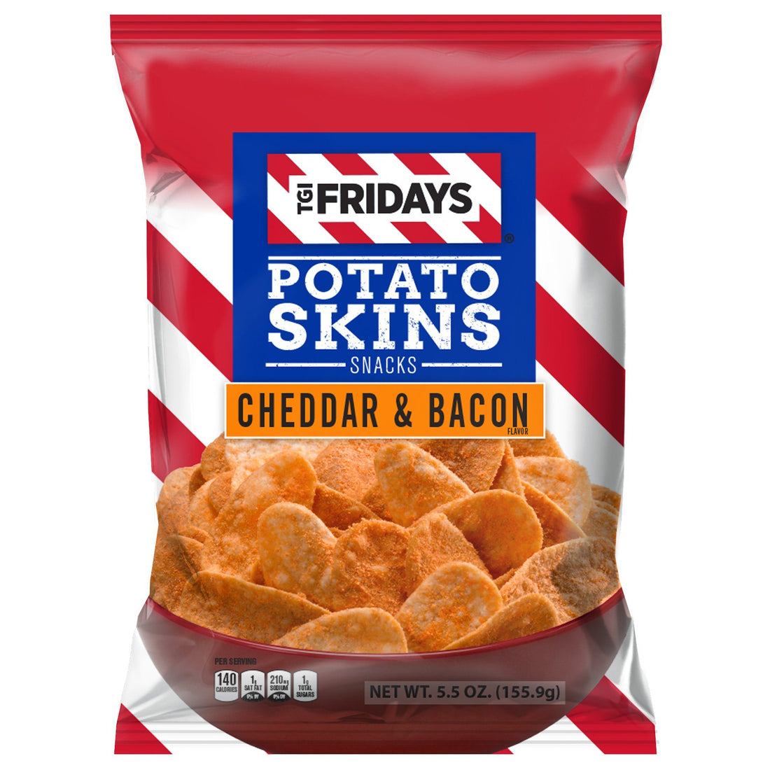 TGI Fridays Potato Skins, Cheddar & Bacon Potato Skins TGI Fridays 5.5 oz. - 16 count