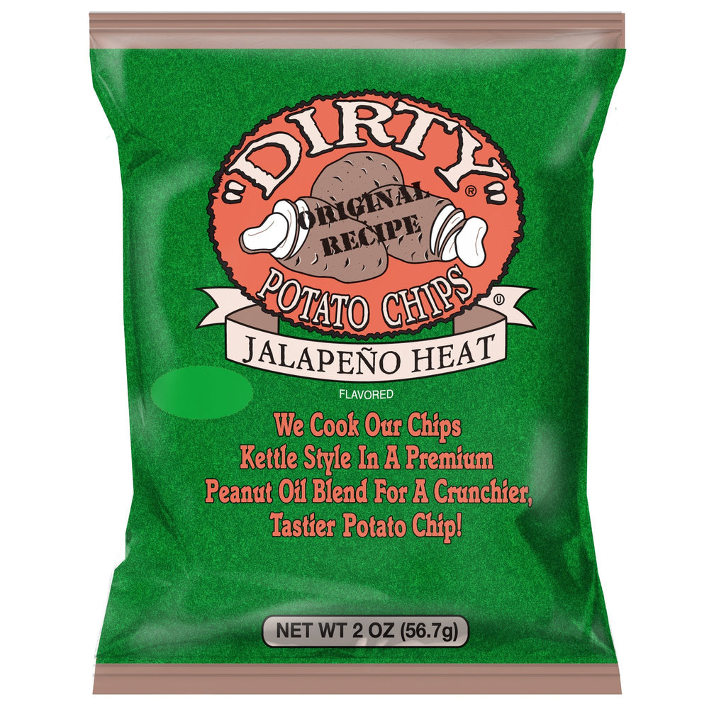 Dirty Kettle Potato Chips, Jalapeno Heat Kettle Chips Dirty 2 oz. - 25 count