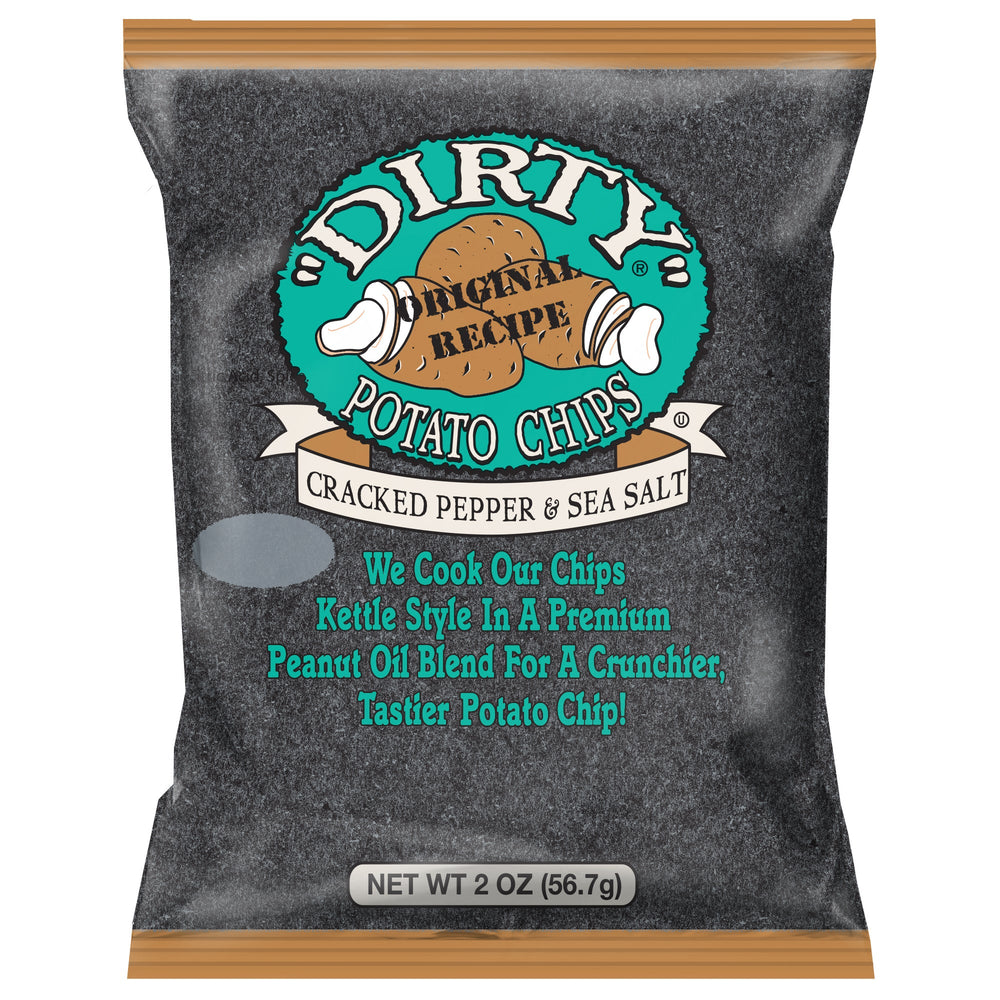 Dirty Kettle Potato Chips, Cracked Pepper & Sea Salt Kettle Chips Dirty 2 oz. - 25 count