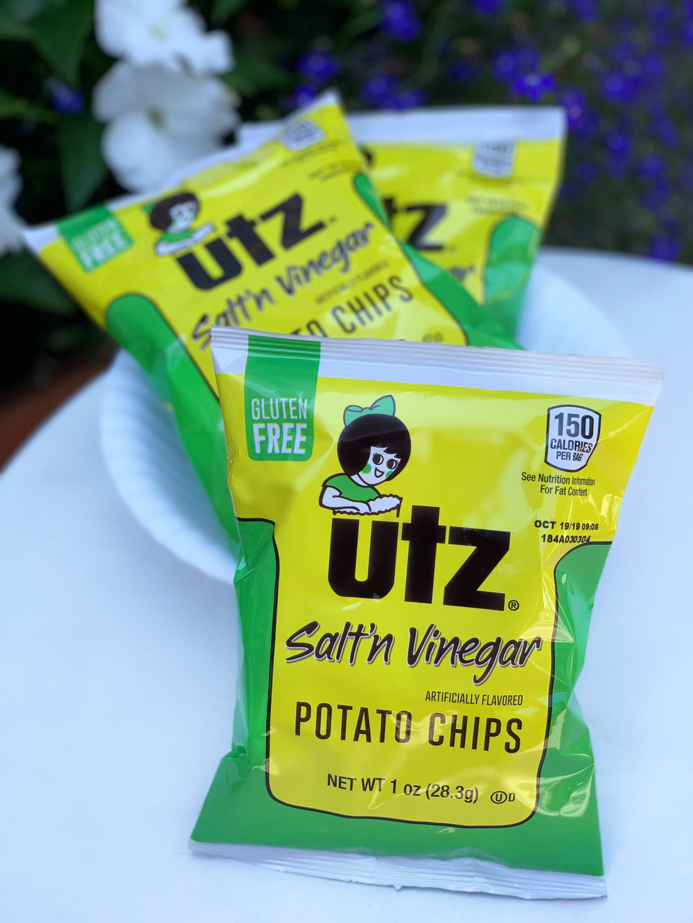 Utz Potato Chips, Salt & Vinegar 1 oz. 60 count Variety Packs And Single Serve Utz