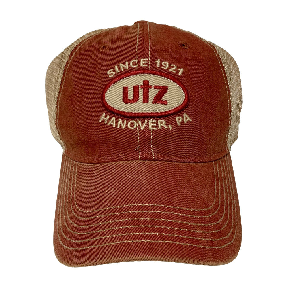 Trucker Style Hat With Utz Showcase Design Gear And Novelties Utz Red