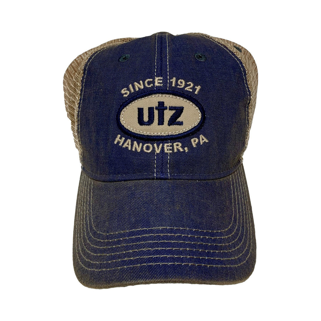 Trucker Style Hat With Utz Showcase Design Gear And Novelties Utz Blue