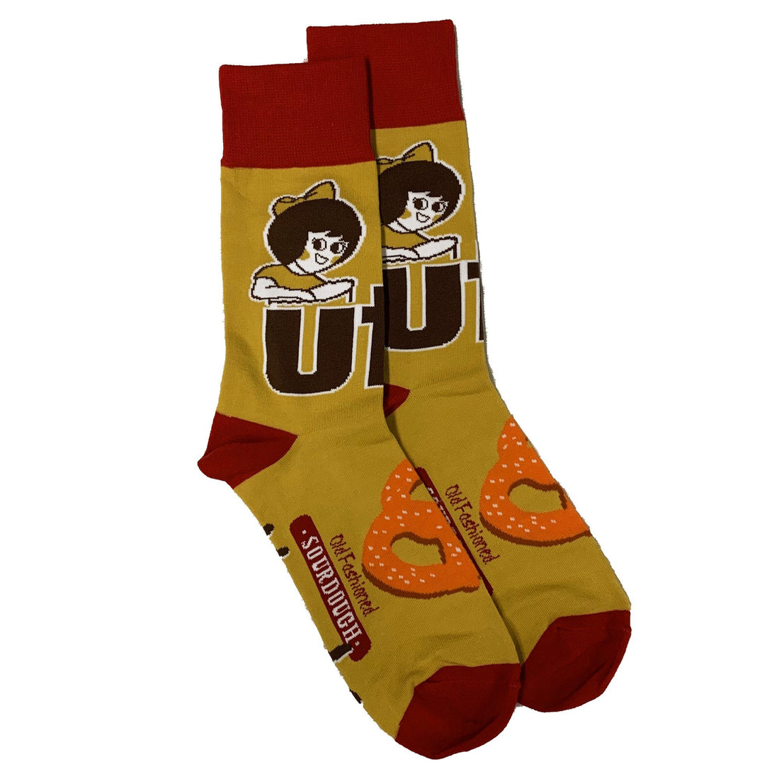 Utz Hard Pretzel Socks Gear And Novelties Utz Adult