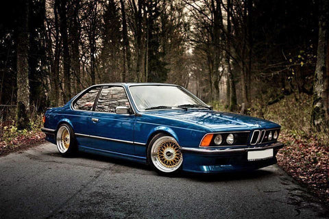 Blue BMW 635csi