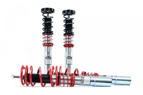 H&R coilovers chrome and red