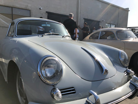 classic porsche fenders and headlights