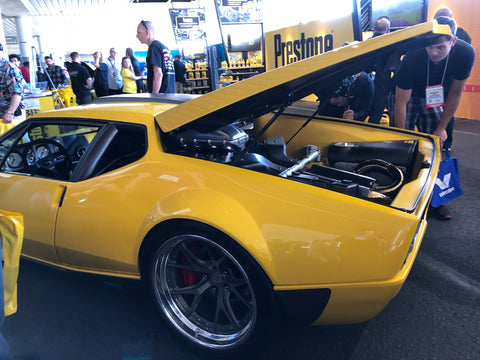 1975 yellow pantera at sema show
