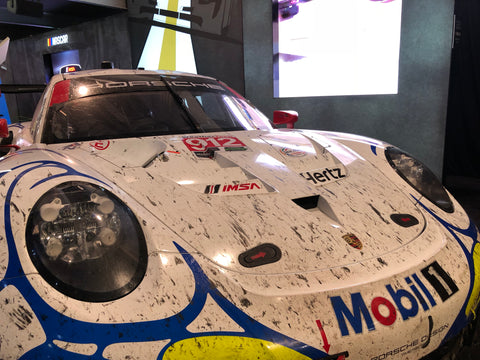porsche race car at sema show