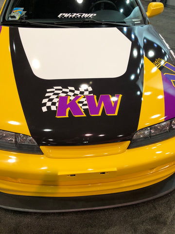 kw logo car at sema show