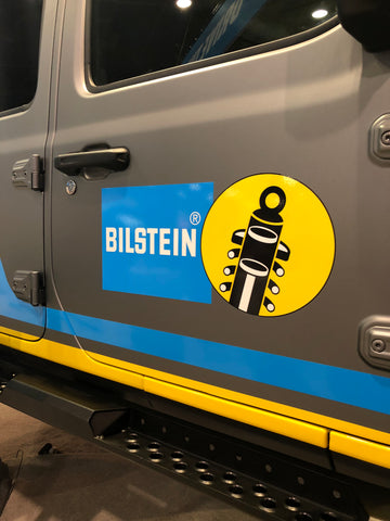 bilstein logo on jeep door