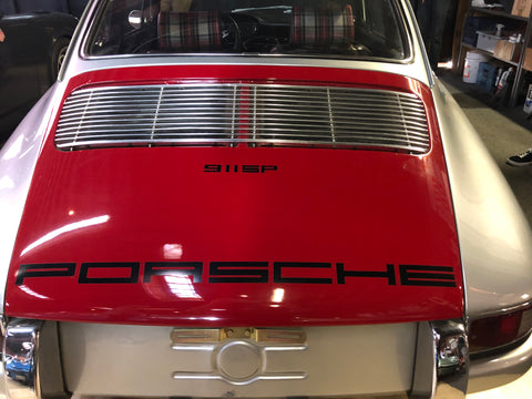 red engine cover magnus walker 911
