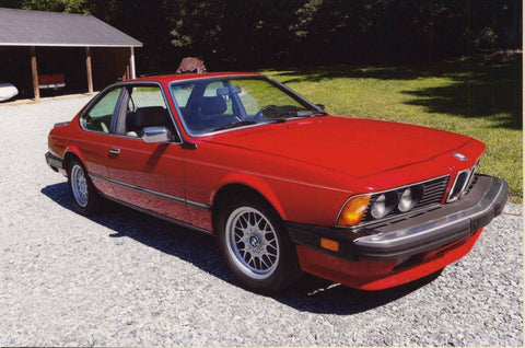 red bmw 633csi e24