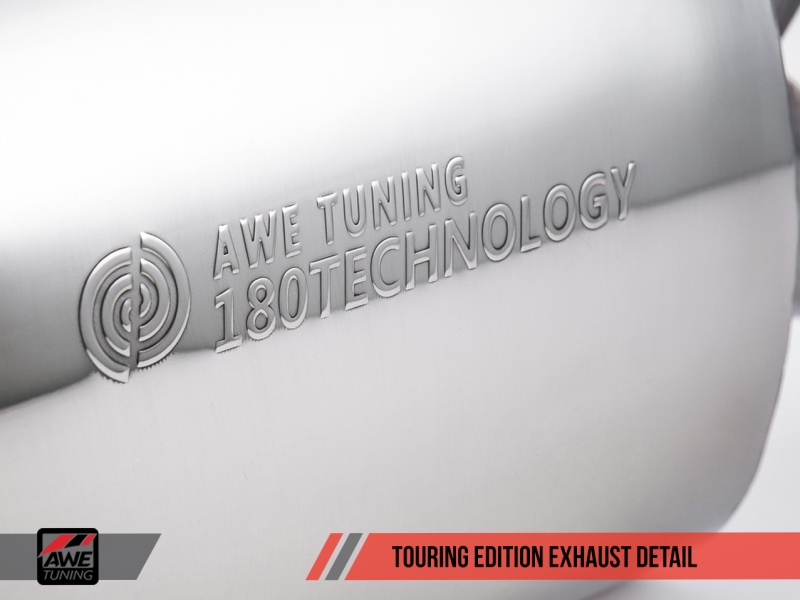 AWE Tuning Mk5 Jetta 2.0T - GLI Touring Edition Exhaust - Polished Silver Tips - MGC Suspensions