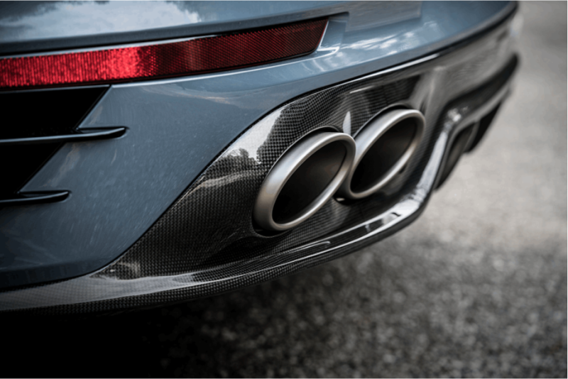 Akrapovic 2016-17 Porsche 911 Turbo/Turbo S (991.2) Rear Carbon Fiber Diffuser-Matte Finish - MGC Suspensions