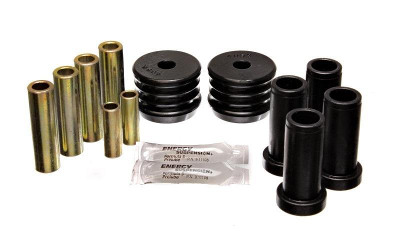 Energy Suspension 64-75 BMW 2002 Black Rear Control Arm Bushing Set - MGC Suspensions