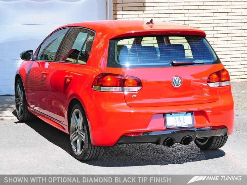 AWE Tuning Golf R SwitchPath Exhaust w/o Activator - Diamond Black Tips - MGC Suspensions